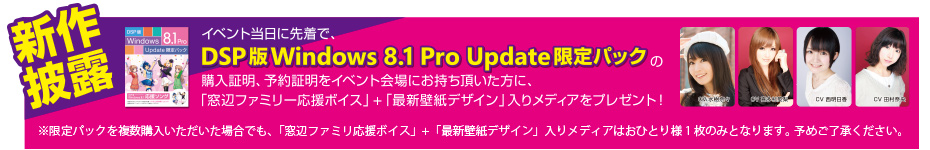 DSP版 Windows 8.1 Pro Update限定パック